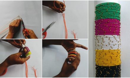 How to make simple silk thread thin bangle set