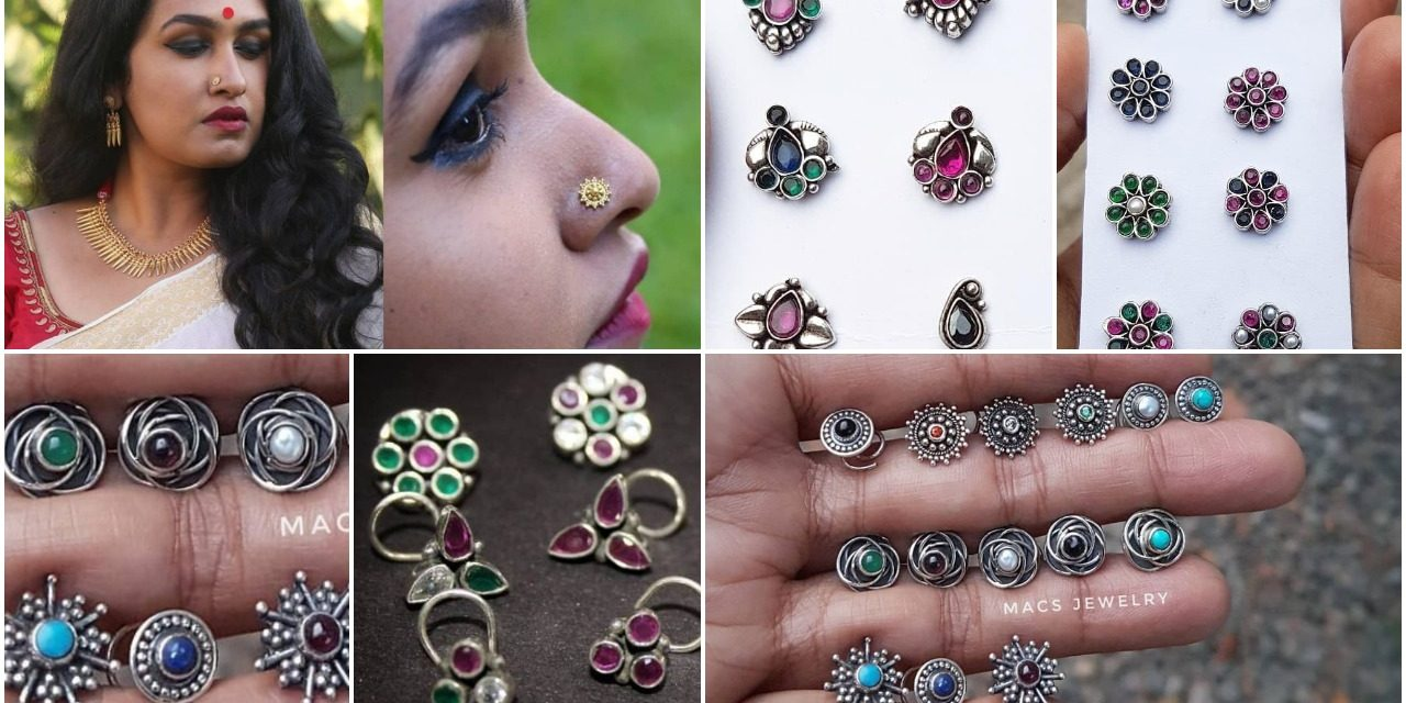 Trending bold nose pins