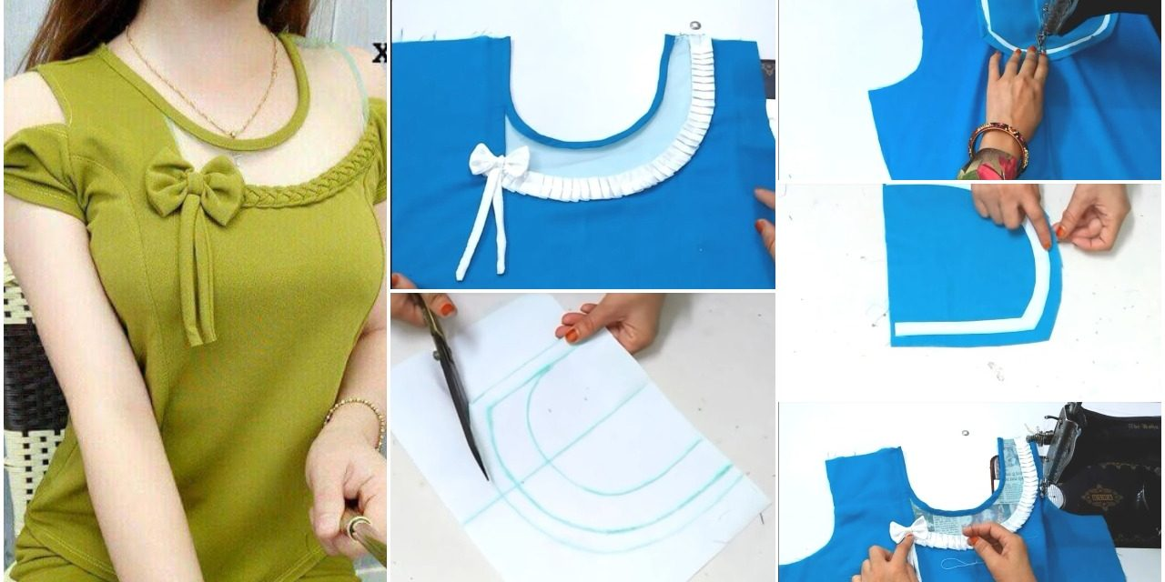 604b1a001 How to make latest stylish neck design - Simple Craft Ideas