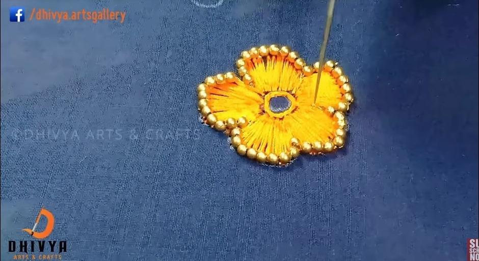 Aari work on blouse