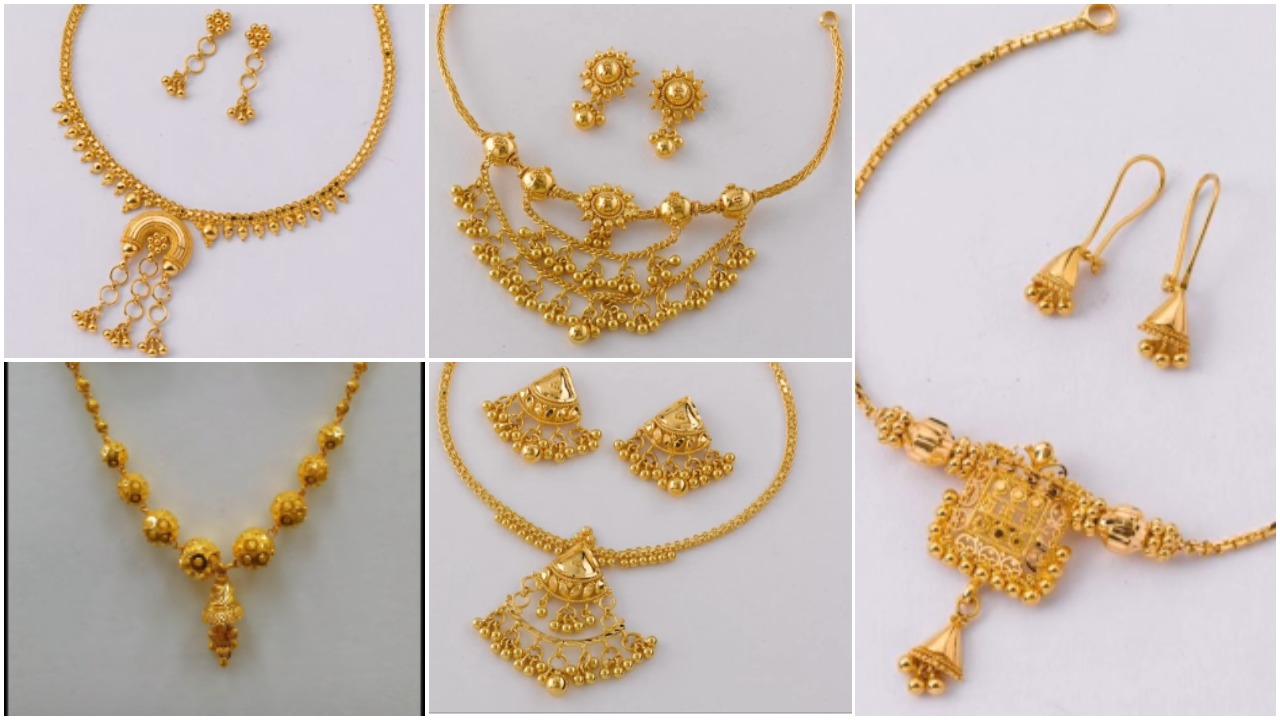Stylish gold necklace designs