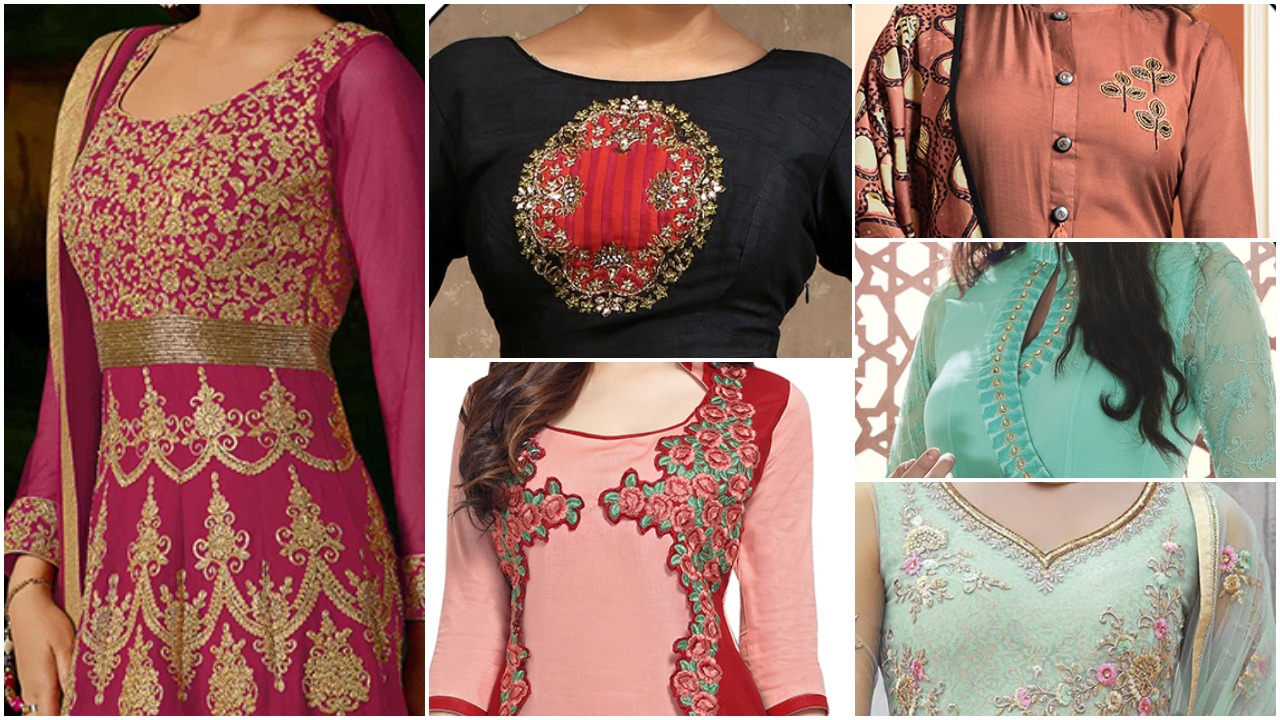Indian suit neck designs