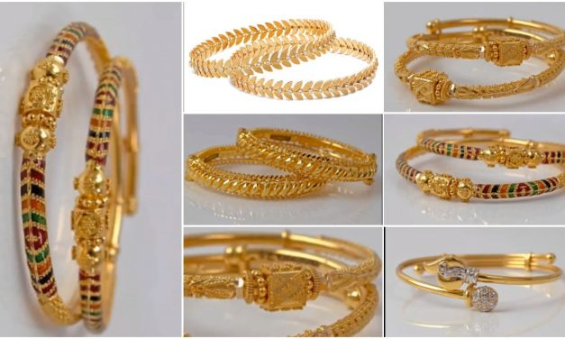 Latest and trendy gold bangles designs