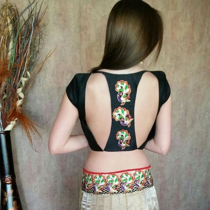 Blouse back design
