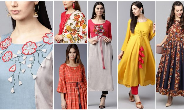 Designer kurtis that can be worn without leggings and pants