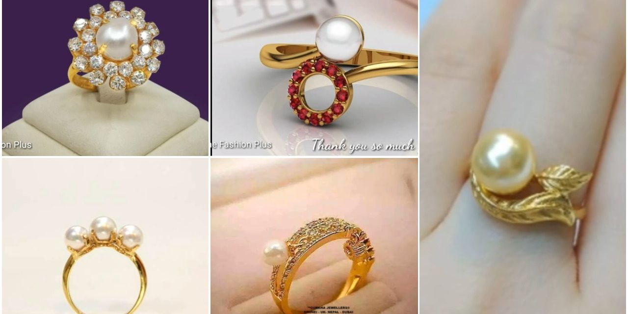 30f99ecfb Latest sea pearl gold ring design - Simple Craft Ideas