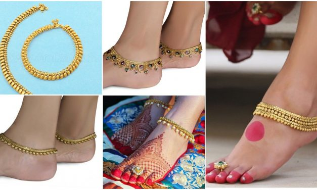 Bride gold anklet design