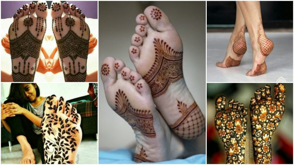 Mehndi designs on the soles of your feet - Simple Craft Ideas