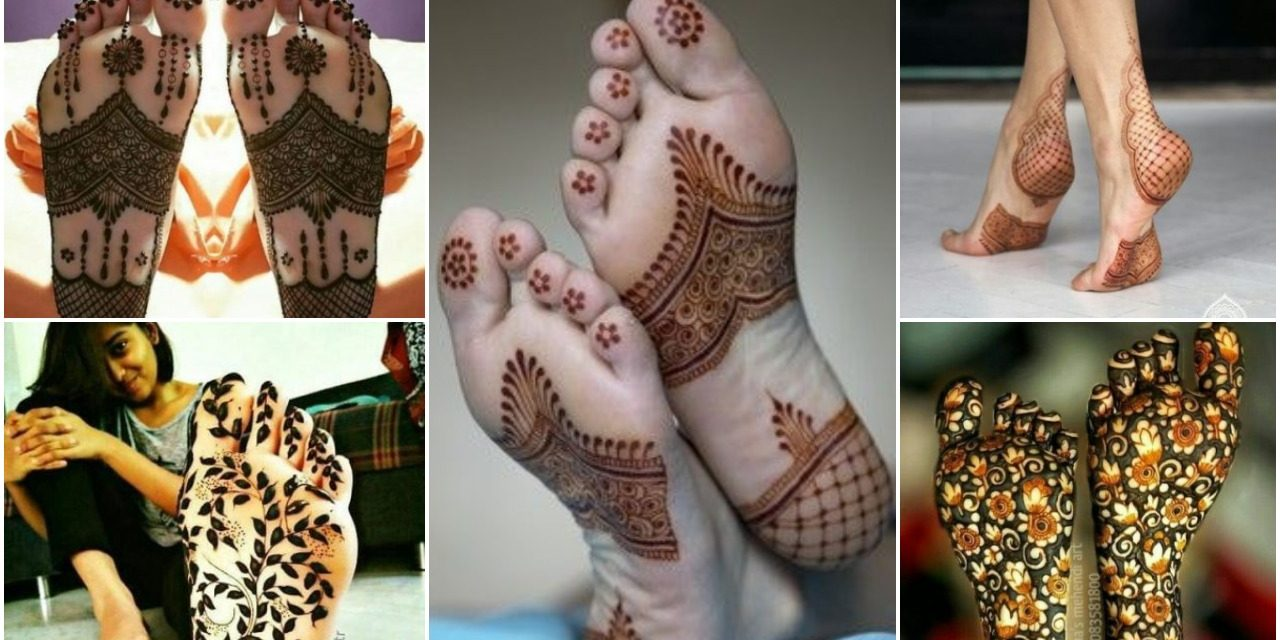 Mehndi designs on the soles of your feet