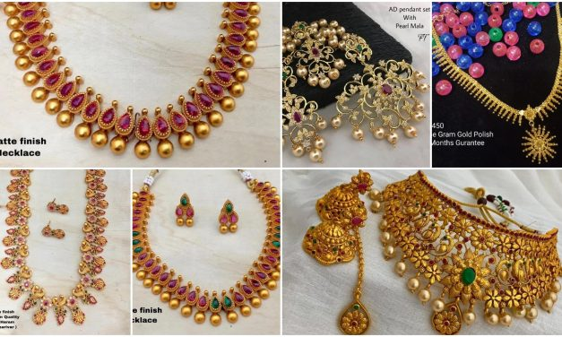 Stylish gold necklace designs collection