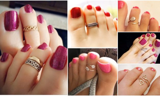 Designer gold plated and silver toe rings
