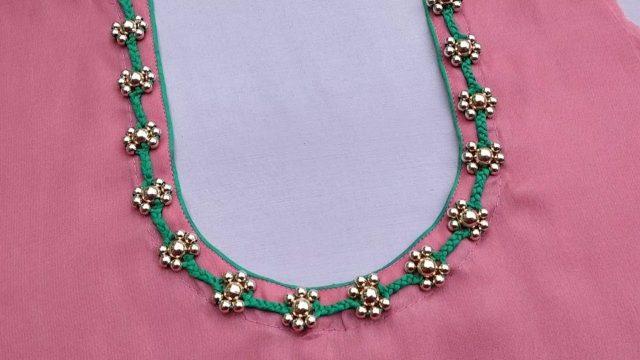 round neck design for kurti