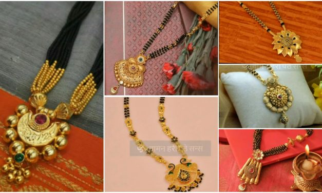 Latest light weight long gold mangalsutra