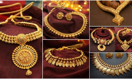 Traditional south indian necklace designs in gold