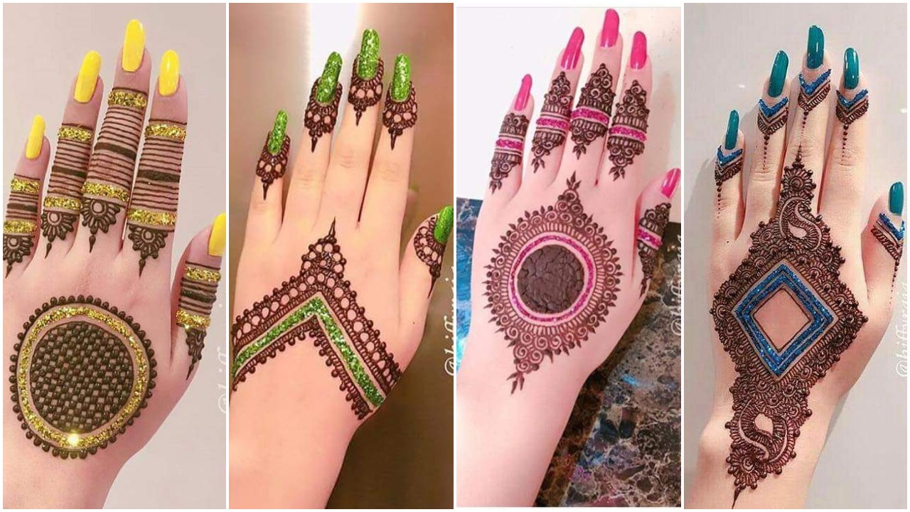 beautiful back hand mehndi design