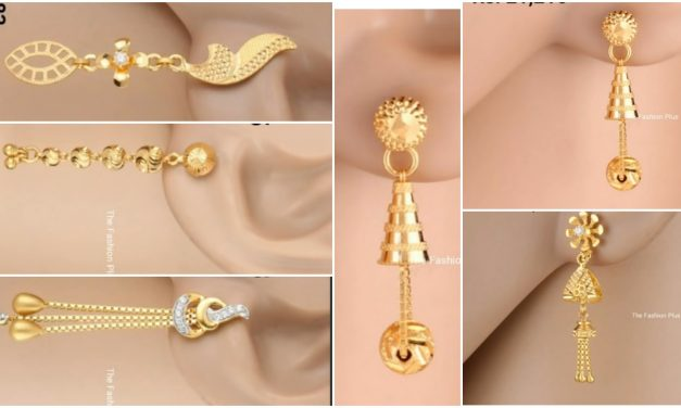 Latest light weight gold earrings designs