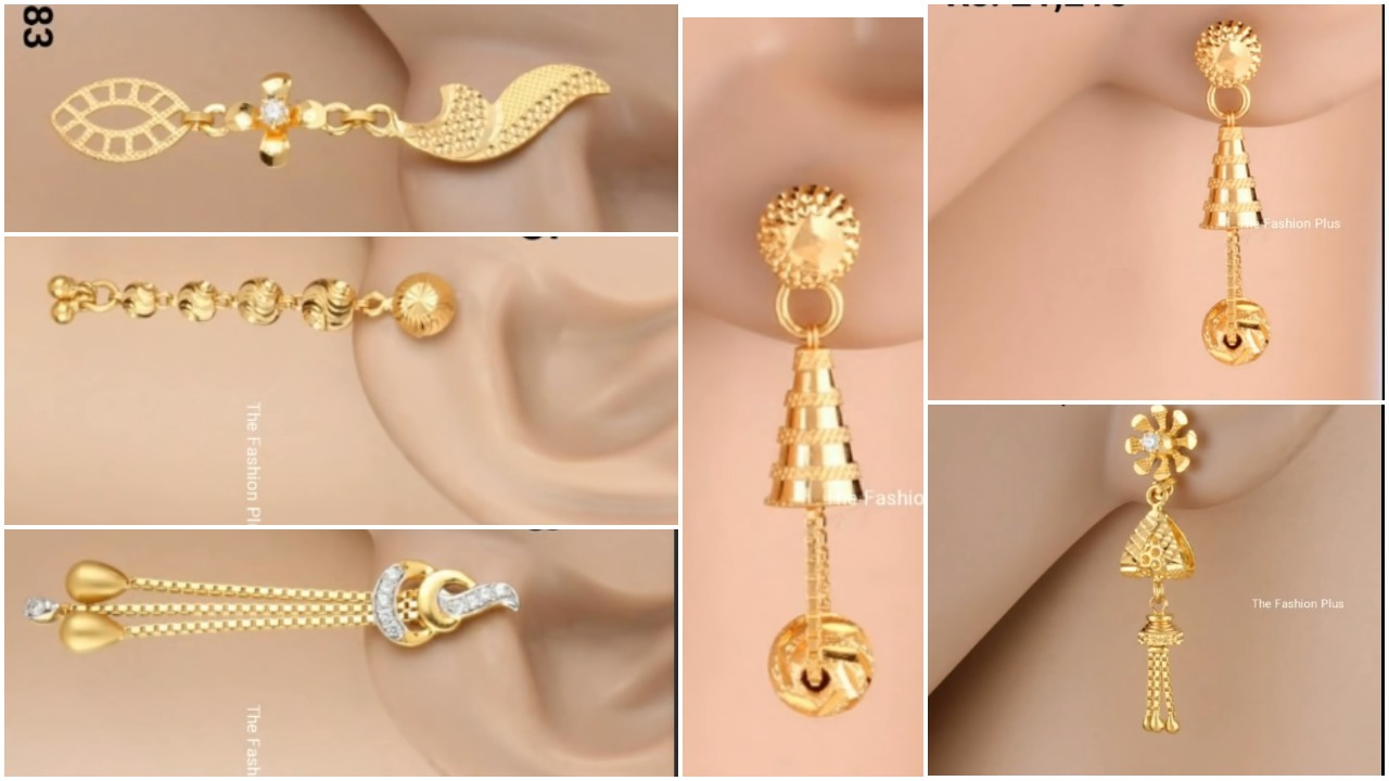 light weight gold earrings
