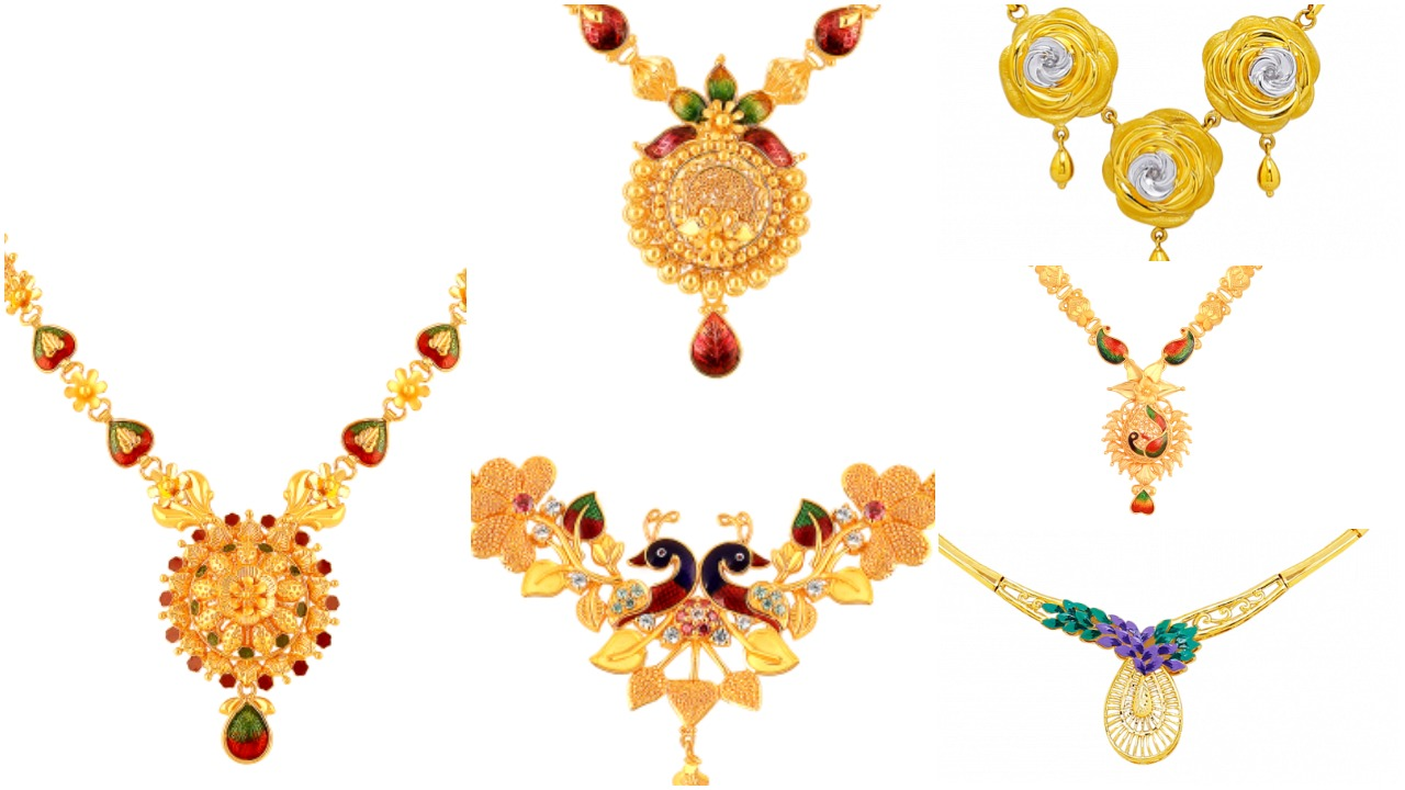 gold necklace collections