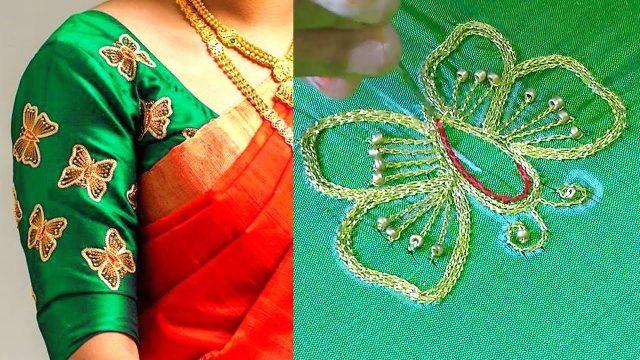 Aari motif butterfly