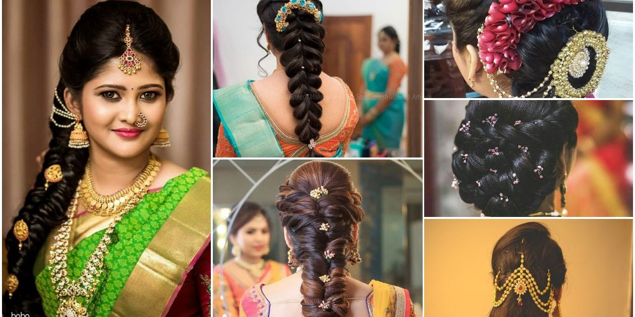indian bridal wedding hairstyles trends - simple craft ideas