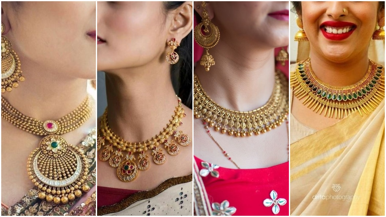 Bridal gold necklace designs