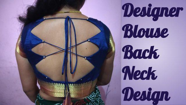 back neck design stitching with dori