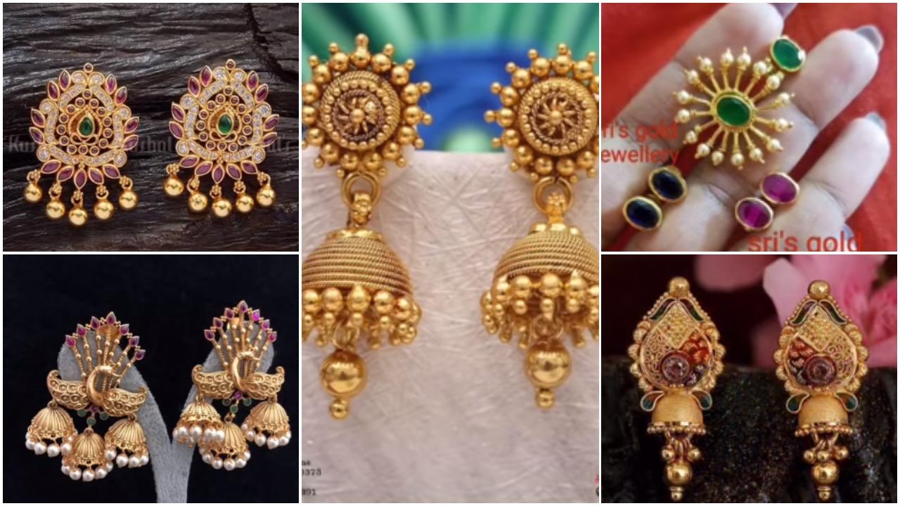 gold daily wear earring