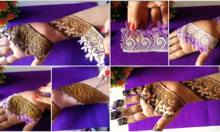Easy lace mehndi trick for beginners