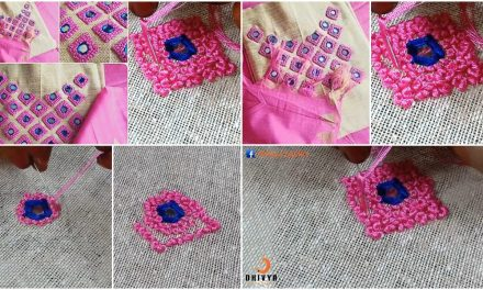 Embroidery designs on kurti-french knot