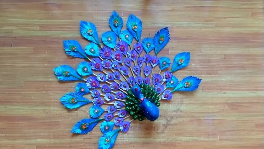 Peacock Craft Wall Hanging