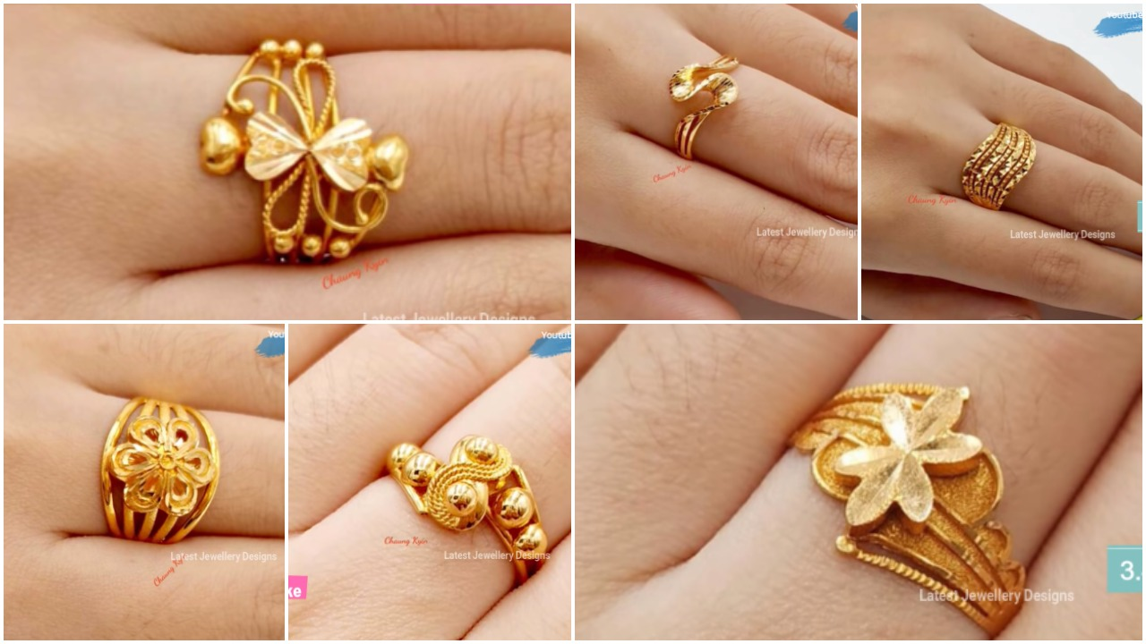 Light weight gold rings for women