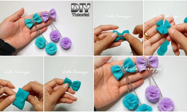 How to make a chiffon fabric flower with pompom