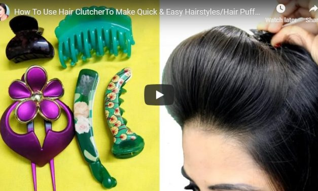 How to use hair clutcher to make quick and easy hairstyles