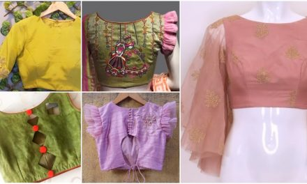 Designer saree blouse designs collection