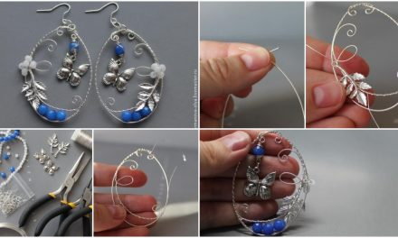"Earrings from wire ""Summer cool"""
