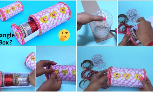 Bangle box making at home with plastic bottle