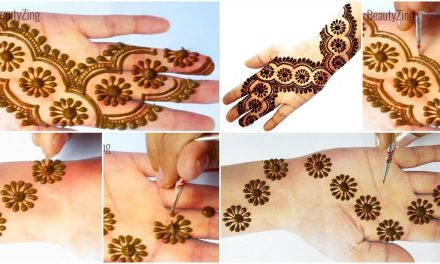New stylish gol tikki full hand mehndi design trick