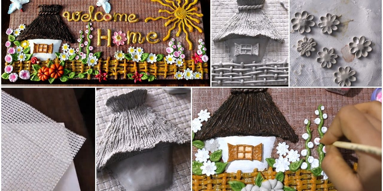 How to make a clay mural painting