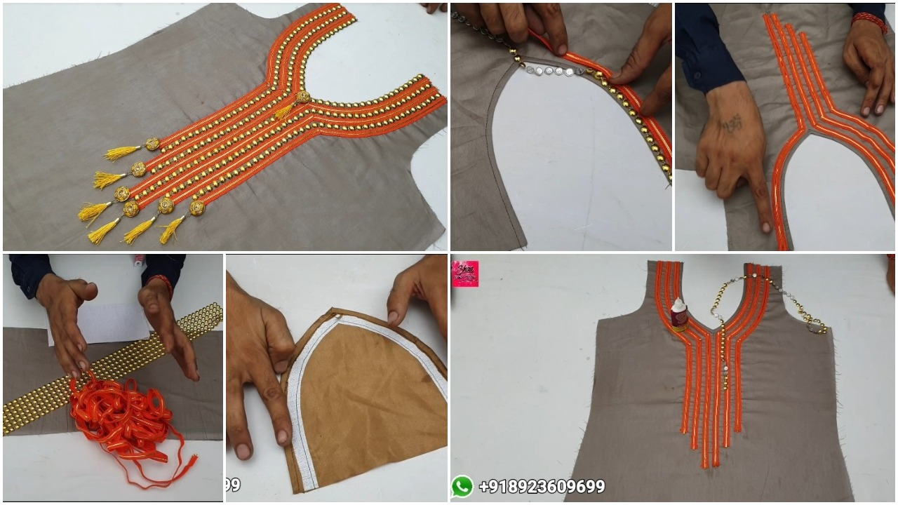 Easy lace front neck design
