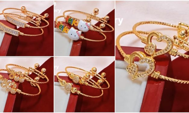 Baby gold bangle design