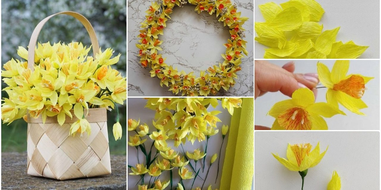 How to make daffodils from paper