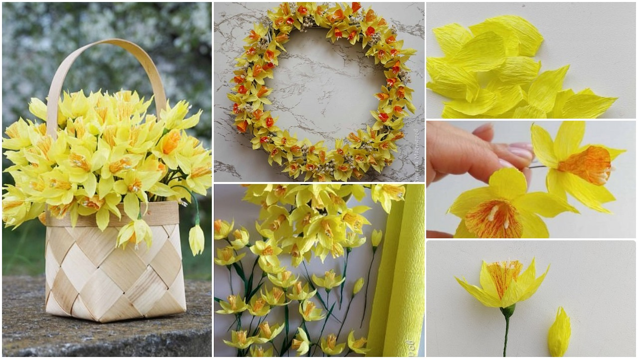 daffodils from paper