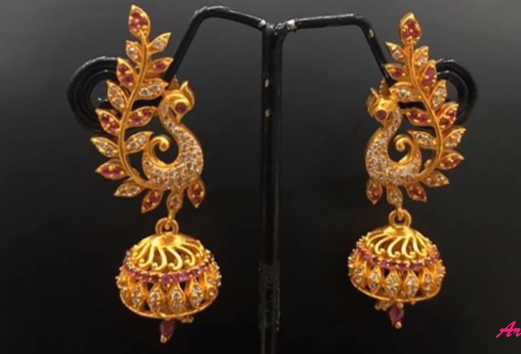 Peacock Design Earrings