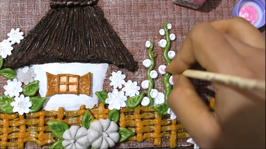 clay mural painting