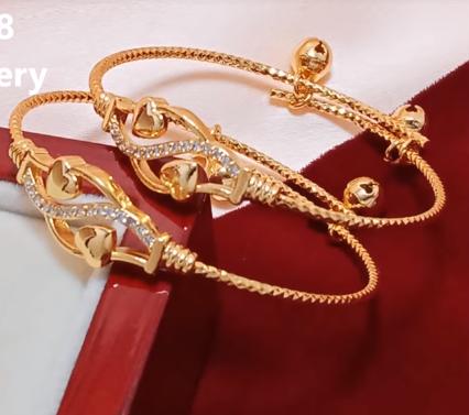 Baby Gold Bangle Design