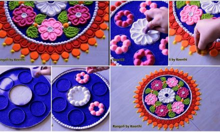 Easy and beautiful rangoli designs with colours