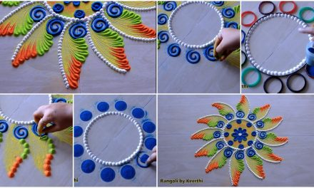 Rangoli designs with colours