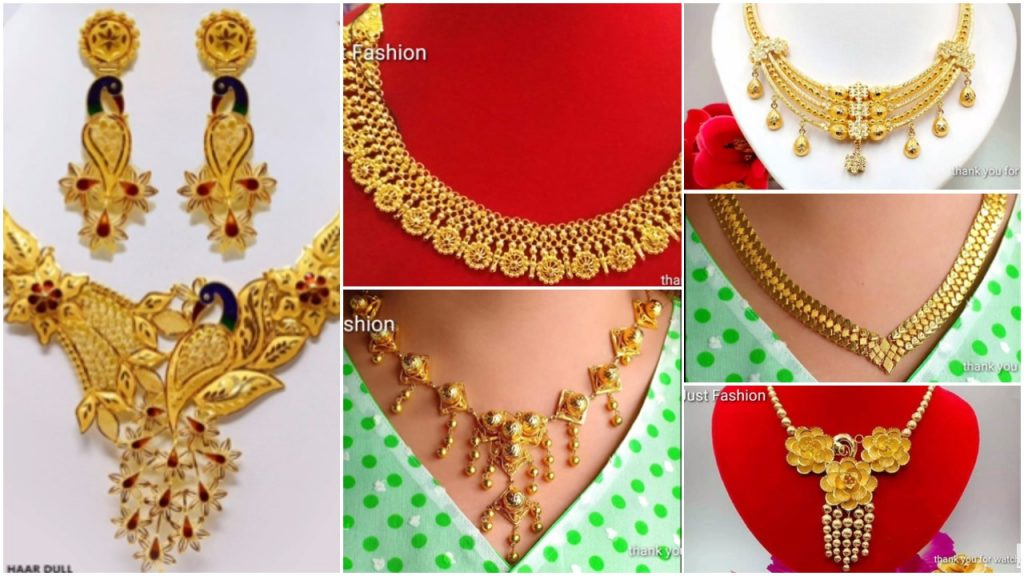 Latest Gold Necklace Designs Simple