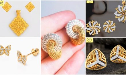 Beautiful gold stud and earrings designs
