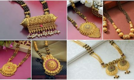 Latest long gold mangalsutra designs